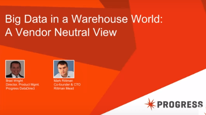 Big data in a warehouse world
