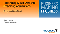 Integrating Cloud Data into Reporting Applications