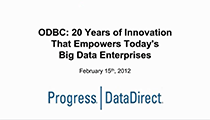 ODBC Empowering Big Data Enterprises
