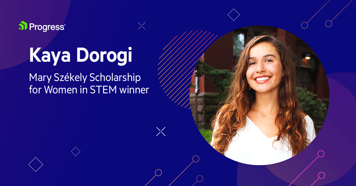 Progress Awards Mary Székely Scholarship for Women in STEM to Kaya Dorogi