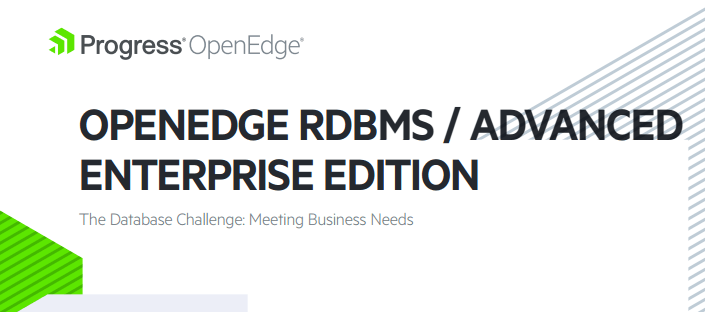OpenEdge RDBMS Advanced Enterprise Edition
