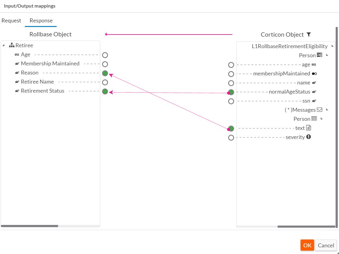 Rollbase Response Mapping
