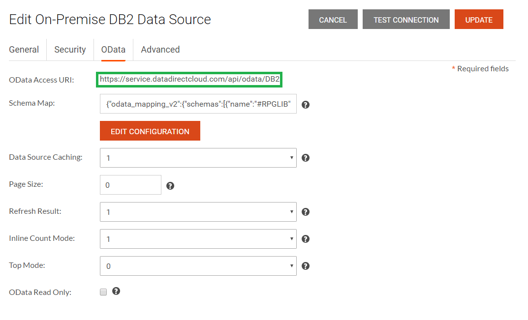 Select all the tables that you would like to access through OData