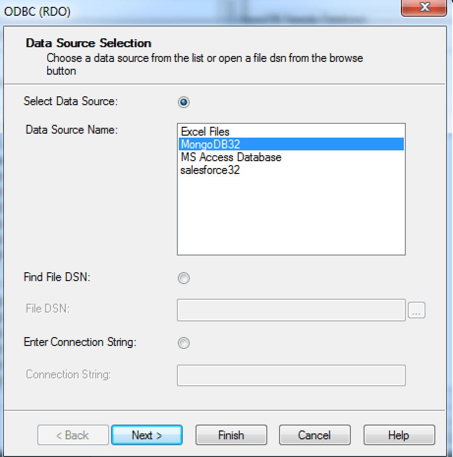 Select Source Name