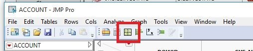 Select the 'Graph Builder' icon