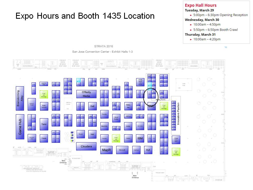 Strata Hadoop Booth Map