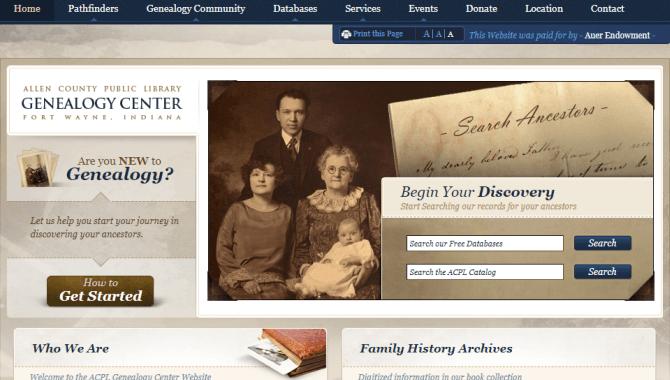 Allen County Public Library Genealogy Center