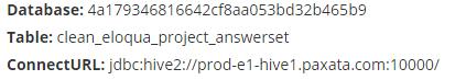 To dataset via Hive JDBC Driver