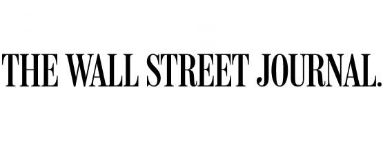Logo for the Wall Street Journal publication. Logo reads in all caps The Wall Street Journal.