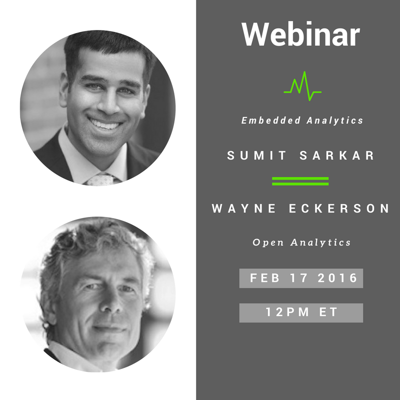 Webinar- Embedded Analytics and Open Analytics