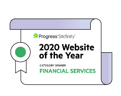 Winner of the year Financial Services Sitefinity