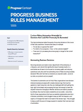 Corticon Business Rules Management
