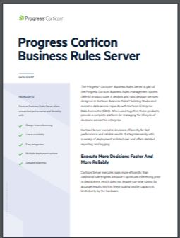 Corticon Business Rules Server