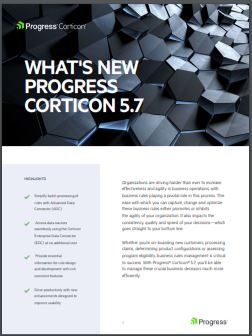 What's New in Corticon 5.7