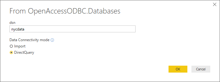 power bi dsn config