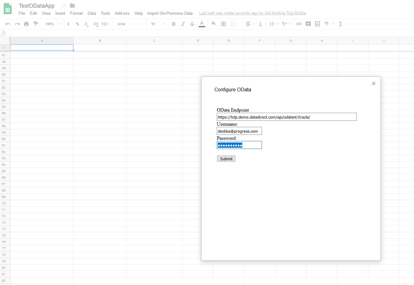 6 Google Sheets OData