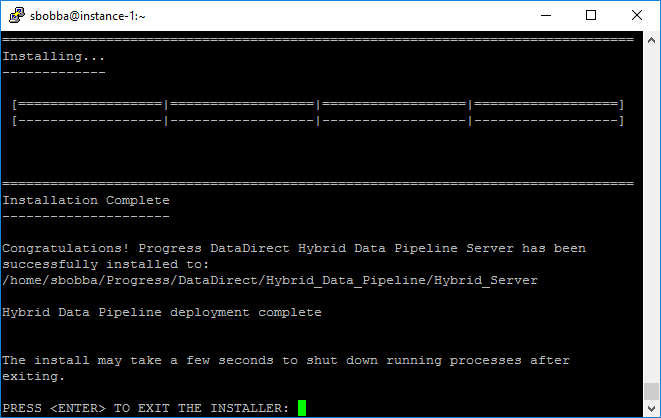 Hybrid Data     Pipeline Installation