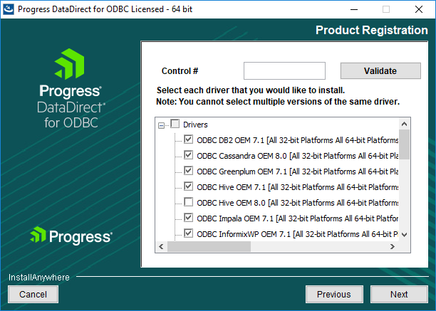 Choose the driver installation