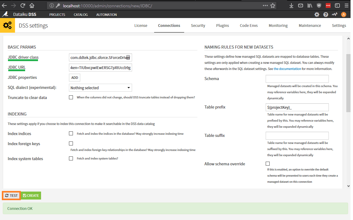 Salesforce Dataiku JDBC 2