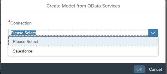 Select Salesforce Odata service