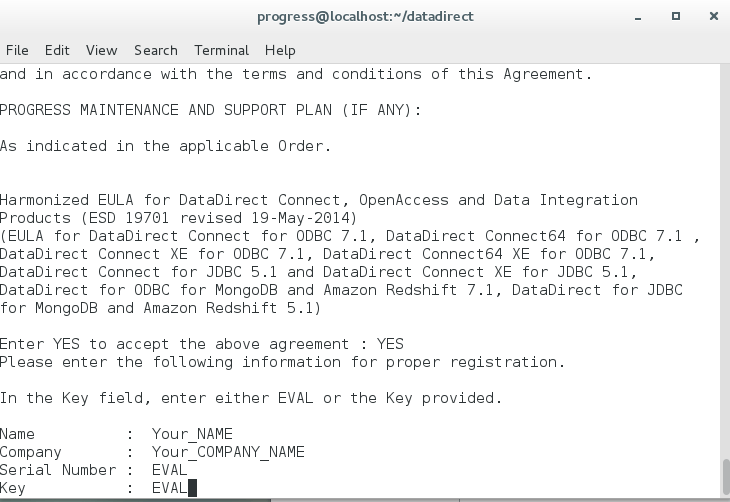 pervasive sql license key location