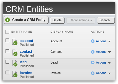 Access and Edit any Entity in CRM