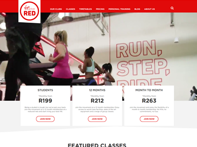 Virgin Active Red South Africa
