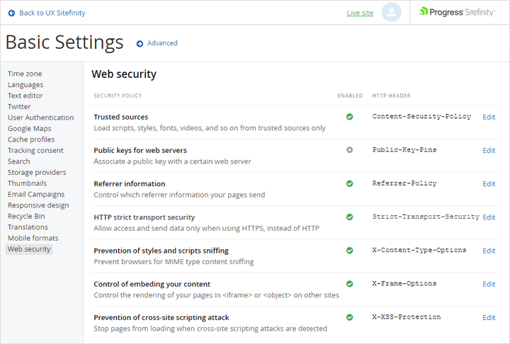Web Security Module