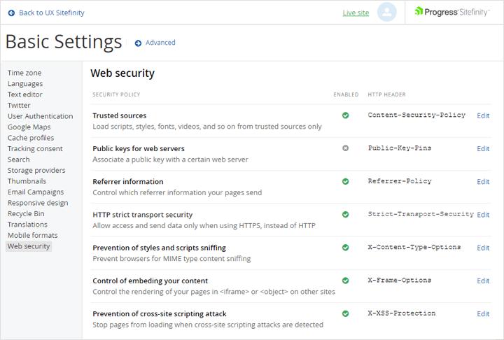 Web Security Module