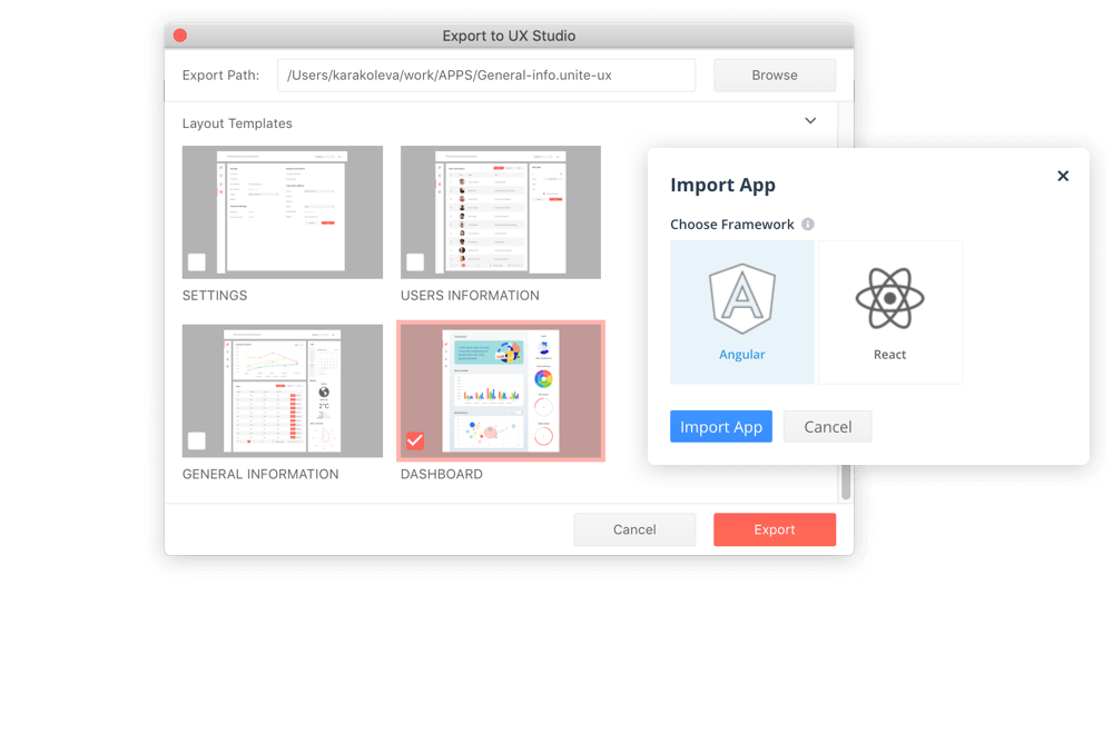1.Seamless design to code hand-off minified