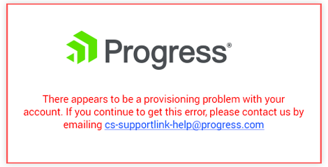 What does it mean when there is a provisioning problem with my account?
